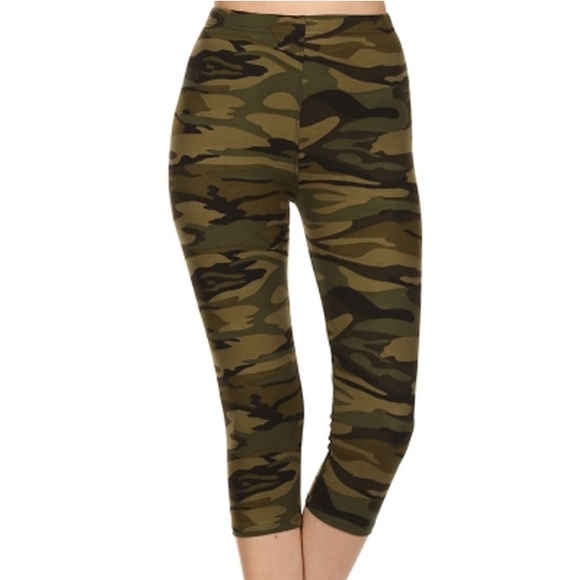 05a69355d8 Leggings Depot Pants | Camouflage Capri Leggings | Poshmark